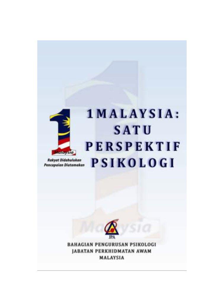 1 Malaysia 1 Perspektif Psikologi