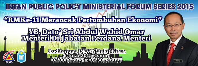 INTAN Public Policy Ministerial Forum Series 2015
