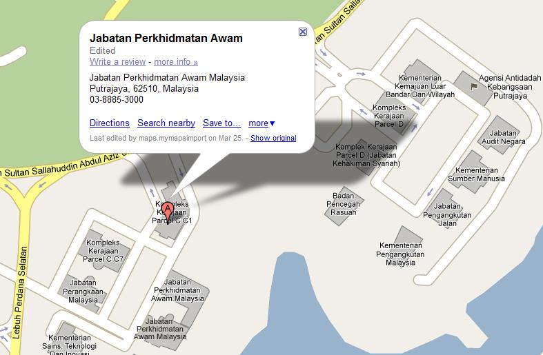Portal Rasmi Jabatan Perkhidmatan Awam Jpa Peta Lokasi Jpa