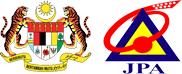 Jata Negara dan logo Jabatan Pekhidmatan Awam